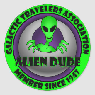 Alien & UFO Keychains & Flair Classic Round Sticker