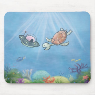 Alien Underwater Mouse Pad