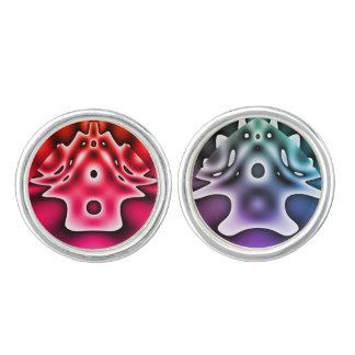 Alien village (red/purple) cufflinks
