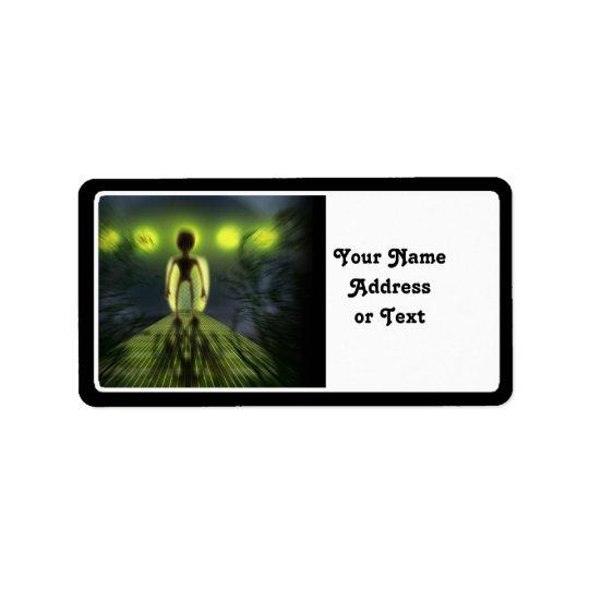 Alien Visitor Label