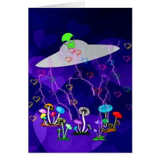 Alien Visitors Card