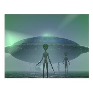Alien Visitors postcard