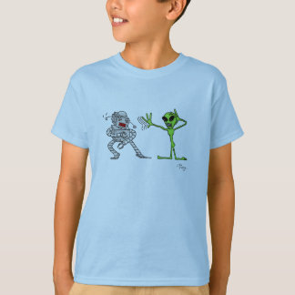Alien vs Robot T-Shirt