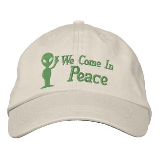 Alien We Come In Peace Embroidered Hat