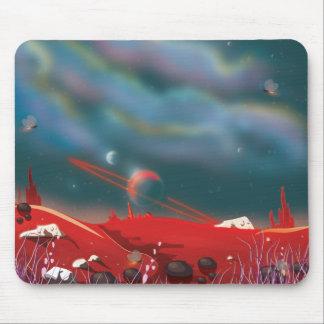 Alien world landscape mouse pad