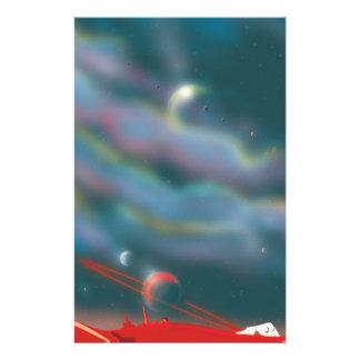 Alien world landscape stationery