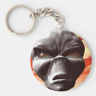 Alien World visited keychain