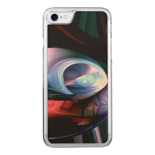 Alien Worlds Abstract Carved iPhone 7 Case