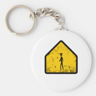 alien xing basic round button keychain