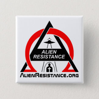 AlienResistance.org 2 Inch Square Button
