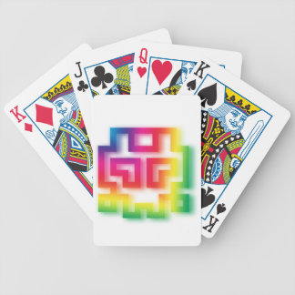 Aliens' aren't Gray - they're Rainbow ! Bicycle Playing Cards