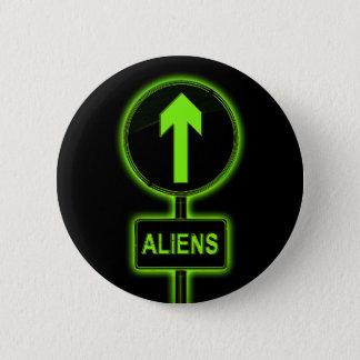 Aliens concept. 2 inch round button