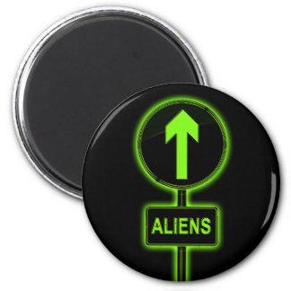Aliens concept. magnet