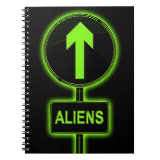 Aliens concept. notebooks