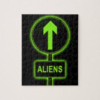 Aliens concept. puzzles