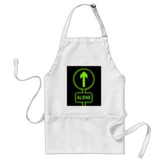 Aliens concept. standard apron