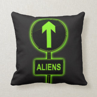Aliens concept. throw pillow