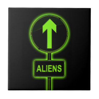 Aliens concept. tile