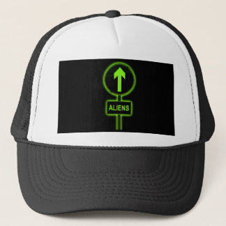 Aliens concept. trucker hat