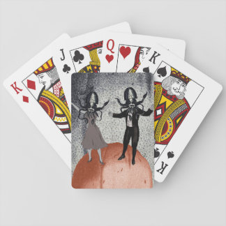 Aliens dance celebration playing cards