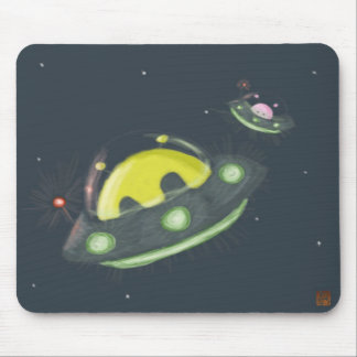 Aliens Flying Mouse Pad
