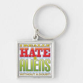Aliens Hate Face Key Chains