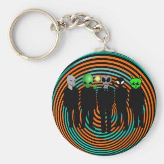 aliens in black keychain
