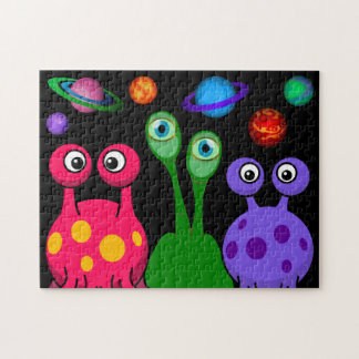 Aliens In Outer Space Jigsaw Puzzle