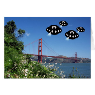 Aliens invade San Francisco Card