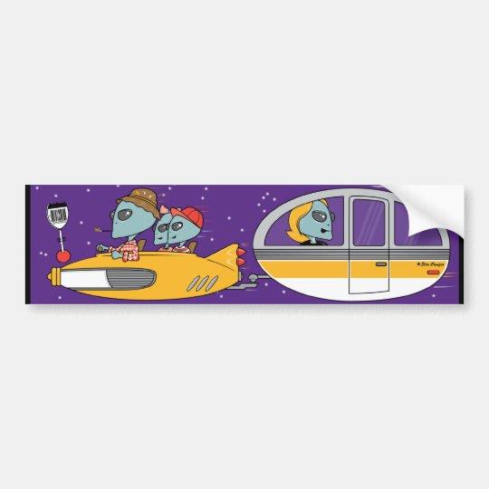 Aliens On Vacation Bumper Sticker