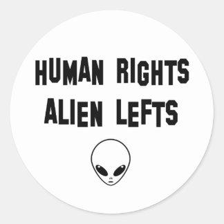 aliens round sticker