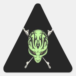Aliens Rule Triangle Sticker