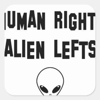 aliens square sticker