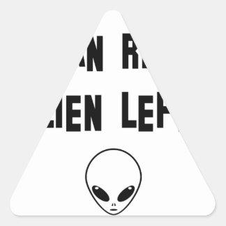 aliens triangle sticker