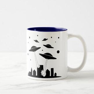 Aliens Two-Tone Coffee Mug