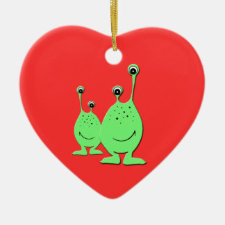Aliens verts, UFO, petits hommes verts Ornement
