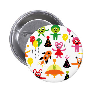 AliensParty1 Pinback Buttons