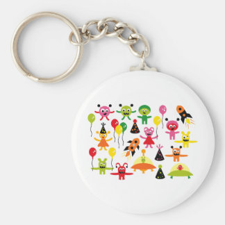 AliensParty1 Key Chains