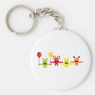 AliensParty2 Basic Round Button Keychain