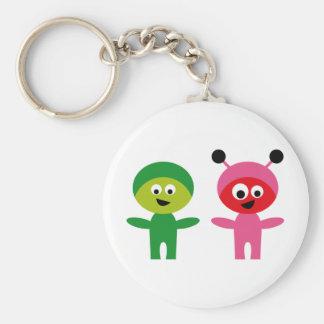 AliensParty3 Basic Round Button Keychain