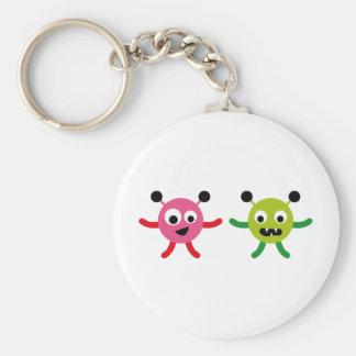 AliensParty4 Basic Round Button Keychain