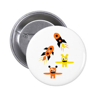 AliensParty5 2 Inch Round Button