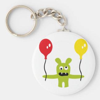 AliensPartyP10 Basic Round Button Keychain