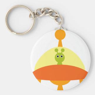 AliensPartyP13 Basic Round Button Keychain