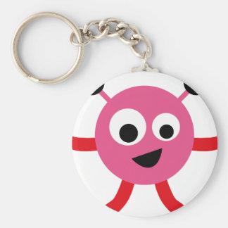 AliensPartyP2 Basic Round Button Keychain