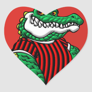Aligator Heart Sticker