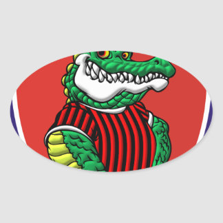 Aligator Oval Sticker