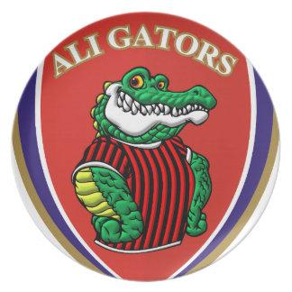 Aligator Party Plates