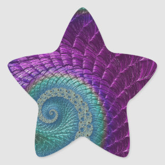 Aligator Scales Star Sticker
