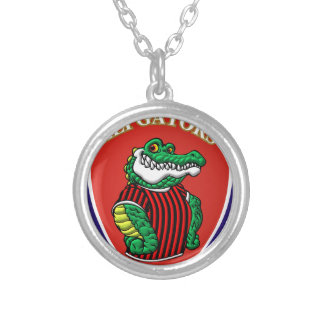 Aligator Silver Plated Necklace